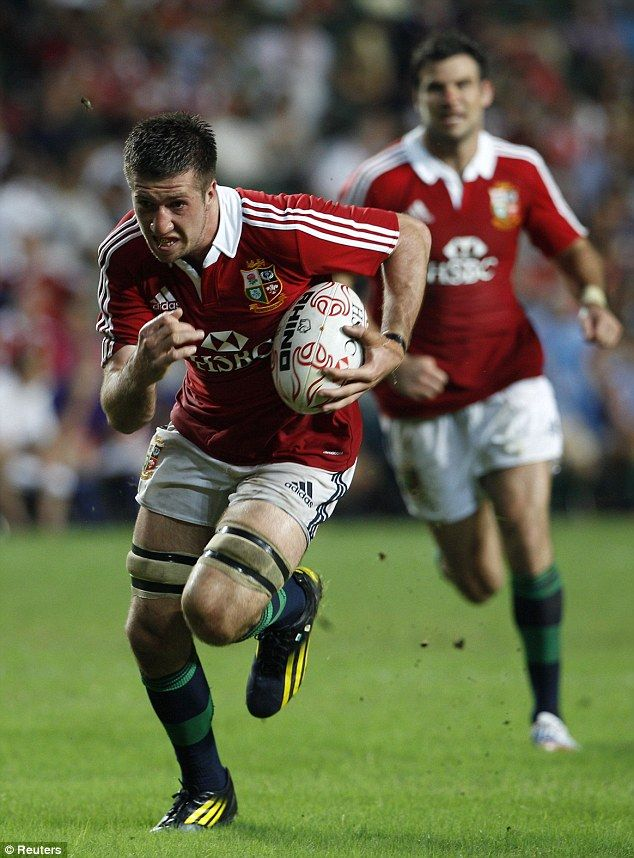 Explosive start: Justin Tipuric pounces on a loose ball and charges on in a strong Lions debut for the Welsh openside