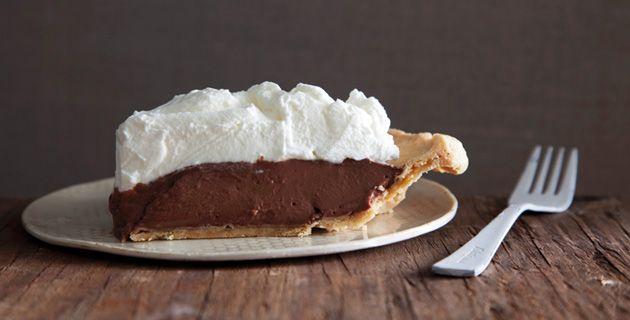 """Leckerer Schokoladenpudding Pie mit """"Baiser"""""""