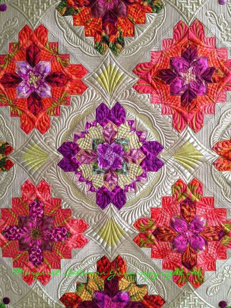 Sewing & Quilt Gallery: Bouquet Royale goes to Show...Here's a look at the Making of it