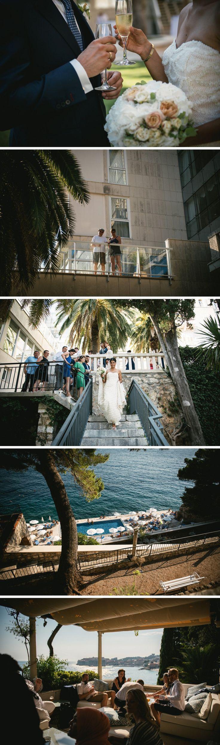 Grand villa argentina hotel - Dubrovnil, Croatia - destination wedding - swimming pool by the sea - Zephyr & Luna photograhy