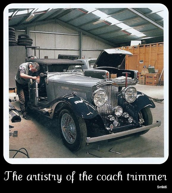 The final trim being applied to the second 1934 rebodied Bently