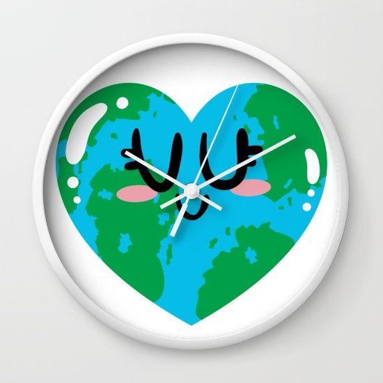 I Love Earth Wall Clock