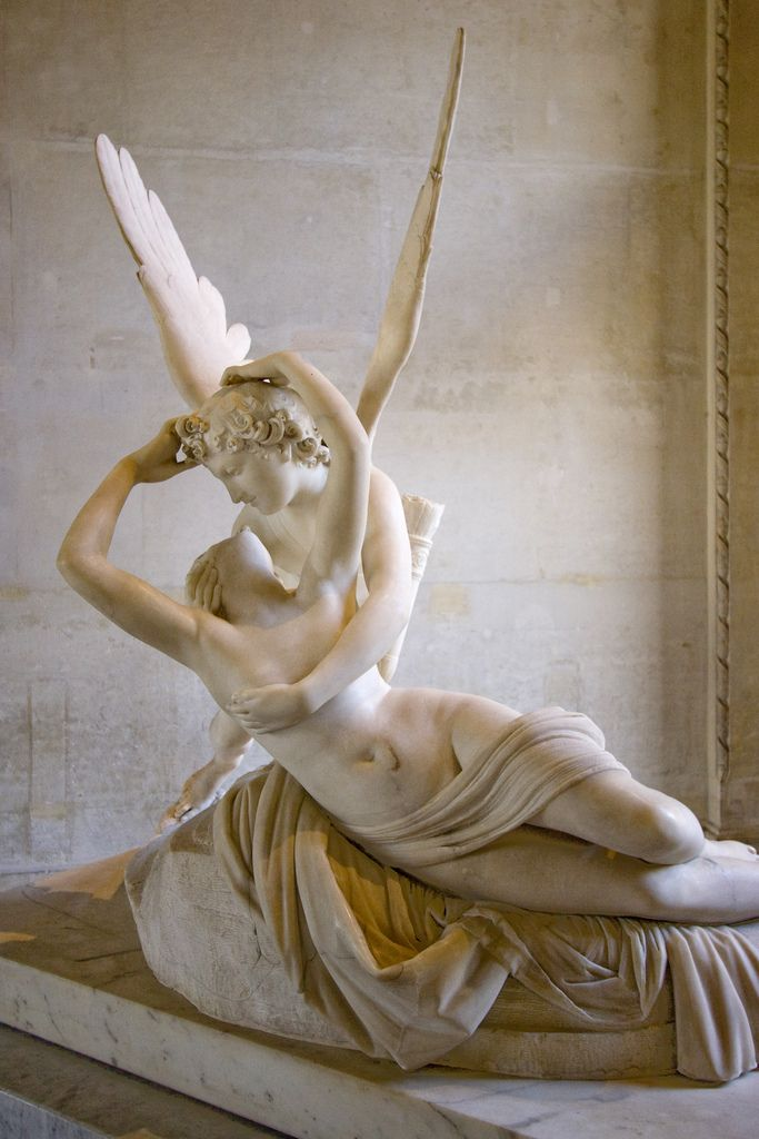 Psyche Revived by Cupid's Kiss by Antonio Canova, The Louvre - Paris, France