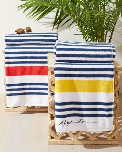 Ralph Lauren Home Healy Stripe Beach Towel Beach Towel Towel
