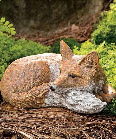 Laying Fox Garden Figurine #zulilyfindsgar