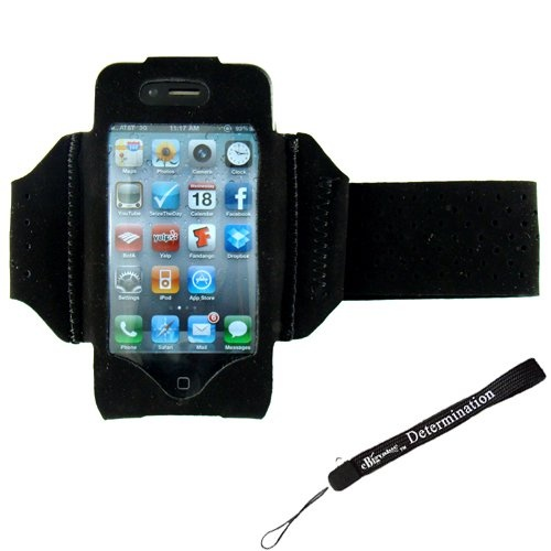 Extreme Sports Exercise Stretchy Black Armband with 8 Secure Adjustable Sizes ( Adjustable from 11 inches up to 19 Inches...