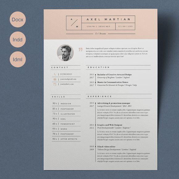 Resume Axel 2 Pages The Help
