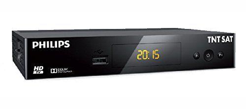 PHILIPS – TNT SAT DSR3231T Récepteur TV HD Satellite – Noir: Le décodeur TV TNT par satellite PHILIPS DSR3231T vous permet d'accéder à tous…
