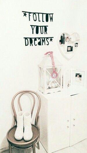 #Wordbanner #tip: Follow your dreams - Buy it at www.vanmariel.nl - € 11,95