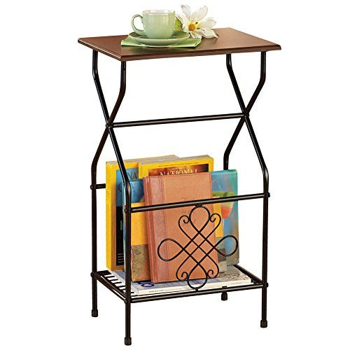 Side Table With Magazine Holder Collections Etc Https://www.amazon.com