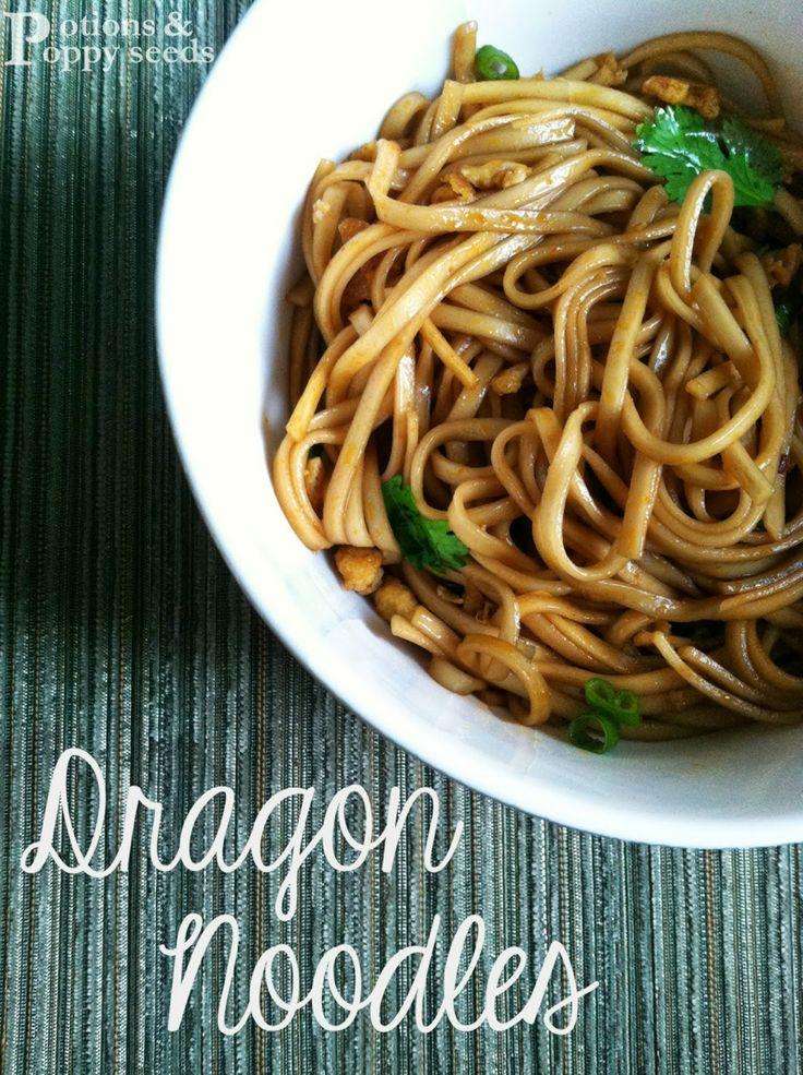 "Dragon Noodles ~ warning...extremely spicy!  Hoping to omit spicy ingredients (red pepper flakes & hot sauce, perhaps 1 other ing) and it still taste good!  I <3 lomein but don't have a recipe!  These look good!   I'm a mild foods lover as that's all I can tolerate : D (""Tame"" Dragon Noodles?)"