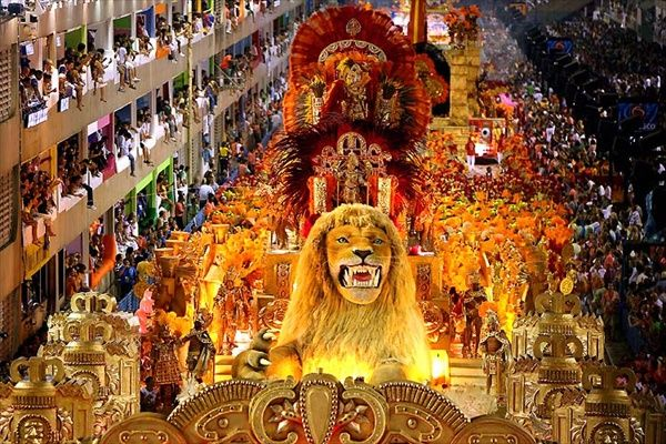 The Carnival in Rio de Janeiro is a world famous festival held before Lent every year and considered the biggest carnival in the world with two million people per day on the streets. The first festivals of Rio date back to 1723.