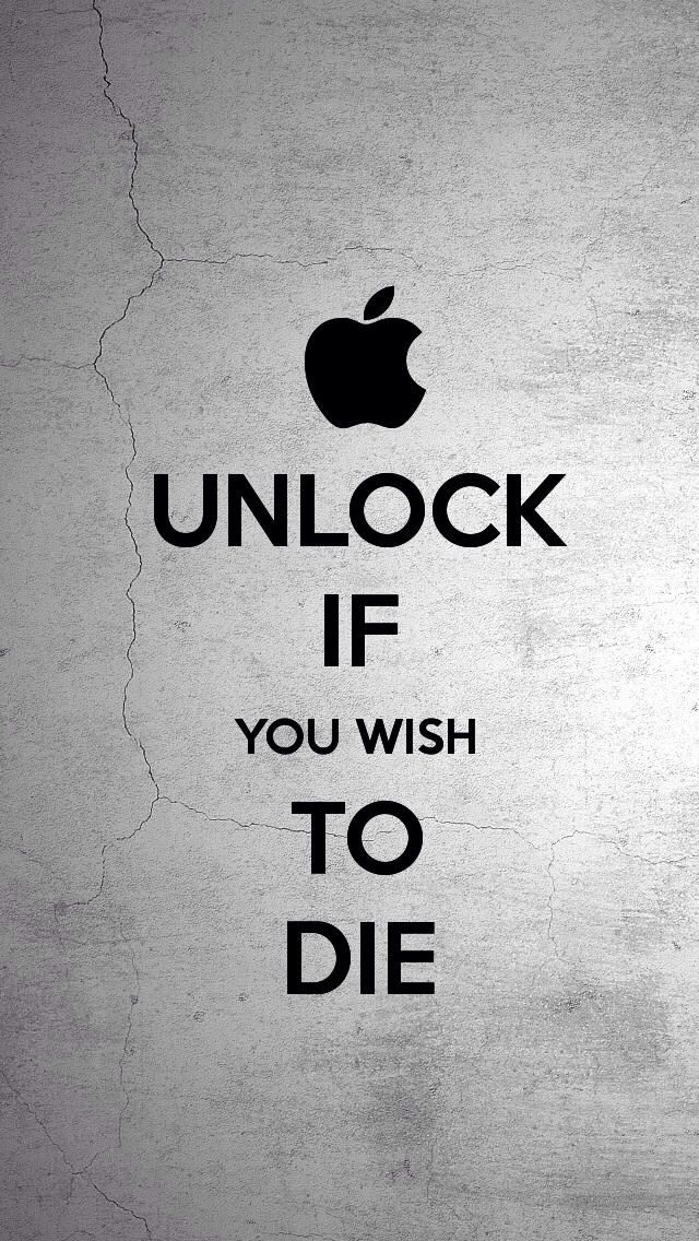 IF YOU WISH TO DIE Funny Iphone Wallpapers Background Lock Screens