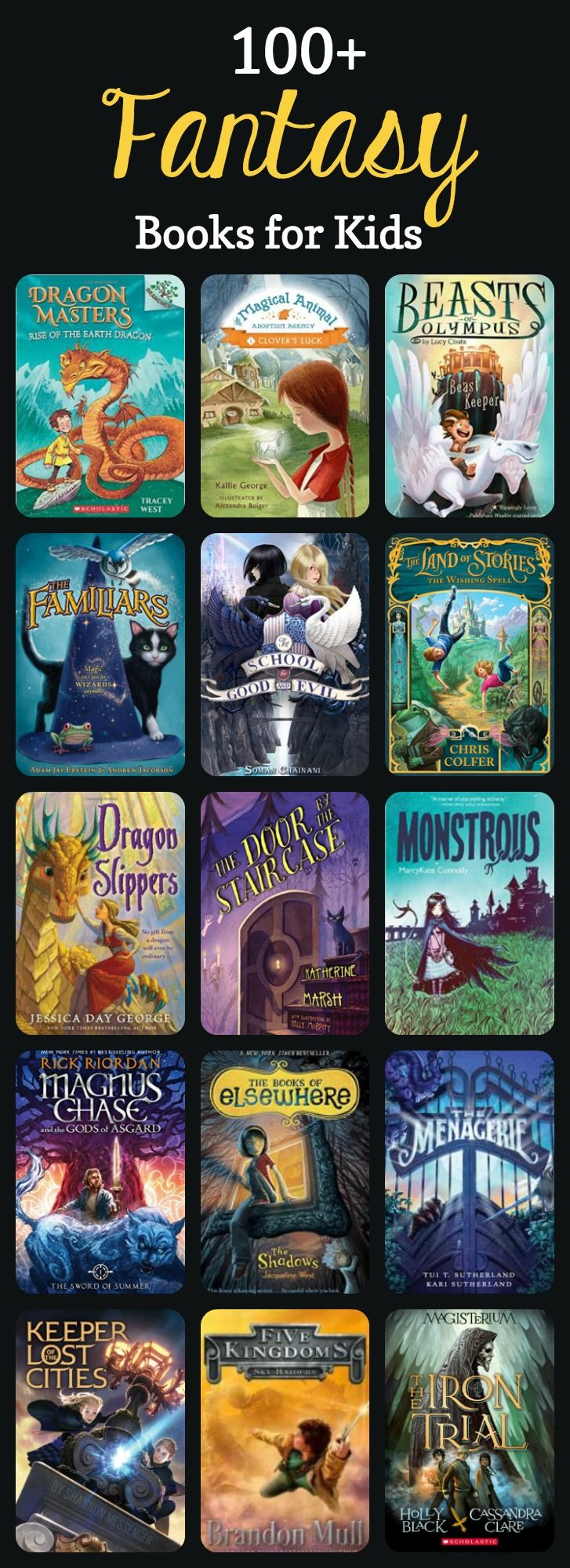 HUGE selection of the best fantasy book recommendations and reviews for kids on Imagination Soup!