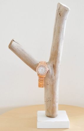 Driftwood Bracelet Jewellery Jewelry Watch Display Holder Storage Rustic Beach White Natural Organic Shabby Chic Jewelery
