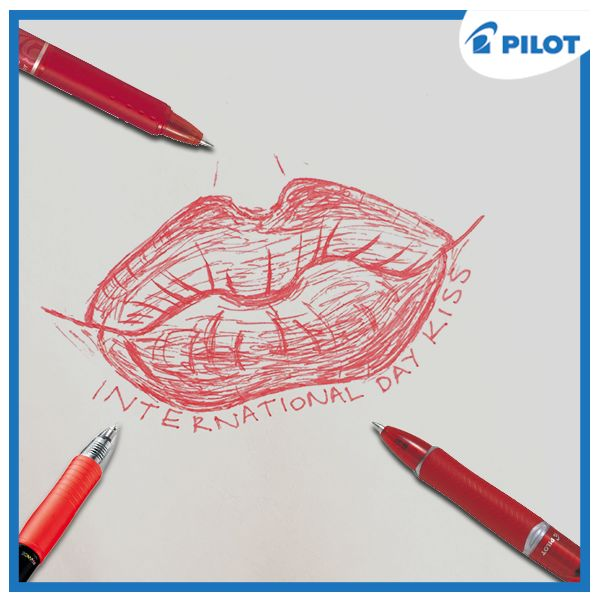 Oslavte mezinárodní den polibků s pery Pilot!