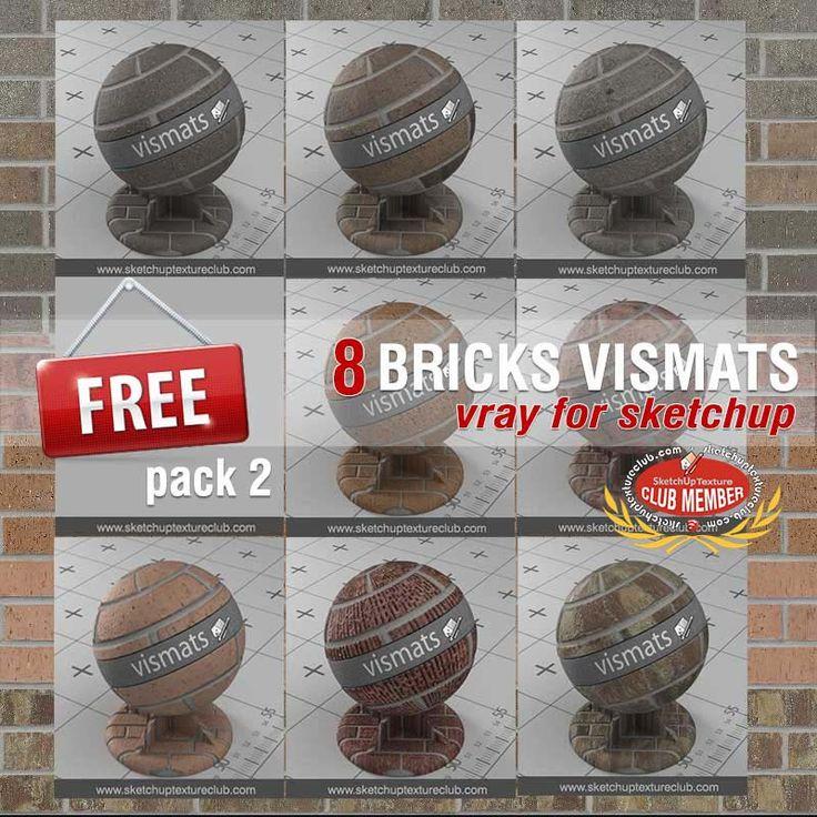 Collection pack 2 Vray materials BRICKS VISMATS for