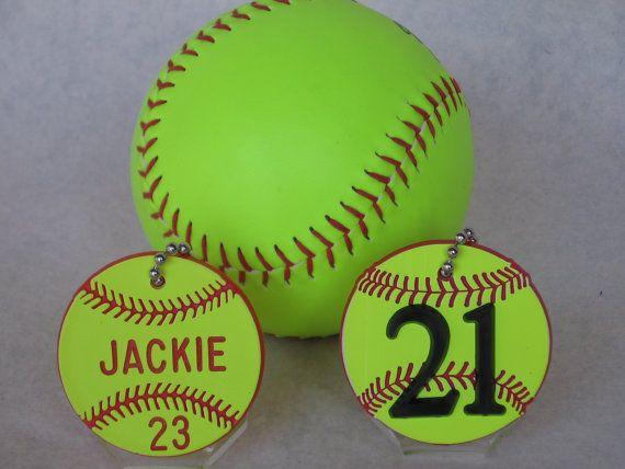 Softball Gifts/Softball Bag Tags/Softball Coaches by BagTagsbyJym, $3.95