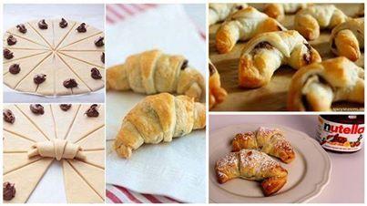 DIY Nutella Croissants