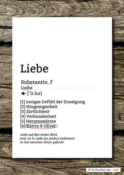 Druck/Wandbild:+Was+ist+Liebe?+-+Lexikon-Print+von+Die+Persönliche+Note+auf+DaWanda.com
