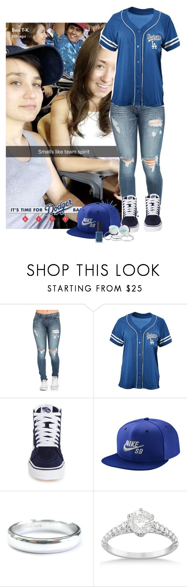 """LA Dodgers Game with Bex and Cole"" by un-iversal ❤ liked on Polyvore featuring Vans, NIKE, Tiffany & Co., Allurez and Kester Black"