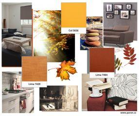 Barvy podzimu - Rolety PAVON v barvách podzimního listí. / Autumn colours - PAVON Roller Blinds in colours of autumn leaves.