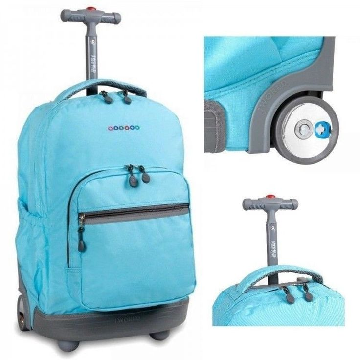 Rolling Backpacks #Wheeled #Bookbags Blue Womens Girls Boys Kids Travel Luggage  #JWorld J World #New #York #Sunrise 18 Inch Rolling Backpack #Seafoam #Backpack #ShoppingOnlineDeals #DanAnnStore #Buyablepins