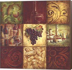 I love the bold and daring look of red wall art. In fact red home wall art décor is super fun because it is such a bright and playful color. In addition, red decorative accents make great statement or conversation pieces. #red #redhomedécor   Tuscan Wine II by Gregory Gorham Canvas Art Wall Picture, Museum Wrapped with Brown Sides, 18 x 18 inches