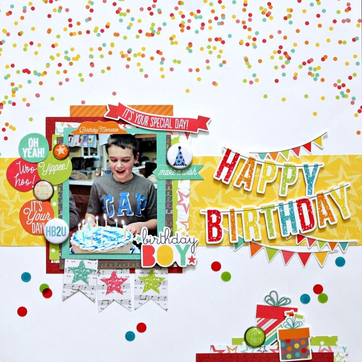 Happy+Birthday - Simple Stories - Let's Party Collection