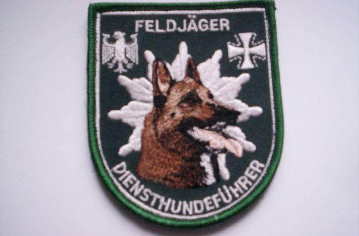 Aufnäher  Bundeswehr  Feldjäger Diensthundeführer ca 8x9,5 cm mit  klett