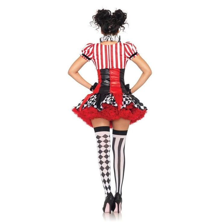 Harlequin Clown Mime 3 Piece Sexy Adult Costume Leg Avenue 83929