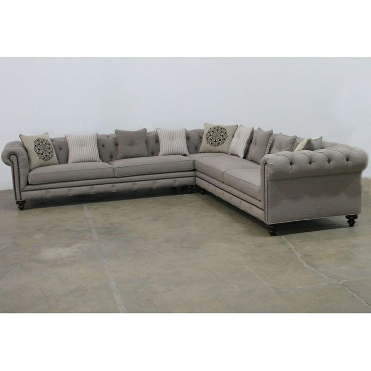 Gray Nailhead Sofa