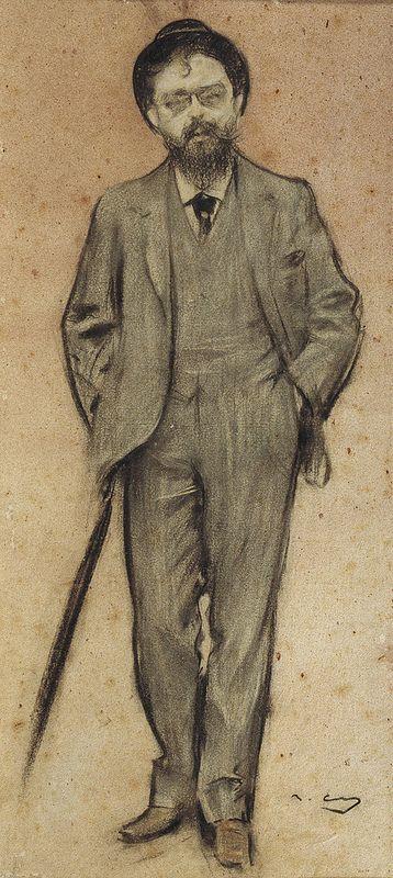 """Ramon Casas Carbó (1866-1932). """"Isaac Albéniz"""". MNAC"""