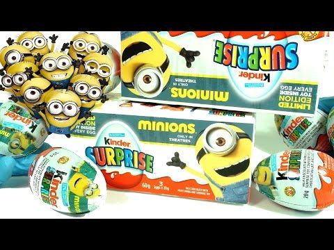 Minions Kinder Surprise Eggs - 手下キンダーサプライズエッグ Pez Racer!  Take a look at these awesome kinder surprise eggs which are limited edition minions themed!   Other awesome toy/candy related videos:   6 Thomas & Friends Pez Engine Candy Despenser & Lunchbox Tin Toy Collectible Merchandise: https://www.youtube.com/watch?v=tAT4tbSTCDA  20 Surprise Eggs Disney Princess Limited Edition Kinder Ariel Cinderella Snow White Repunze: https://www.youtube.com/watch?v=5Y9323A2guA  Marvel Heroes Buildable…