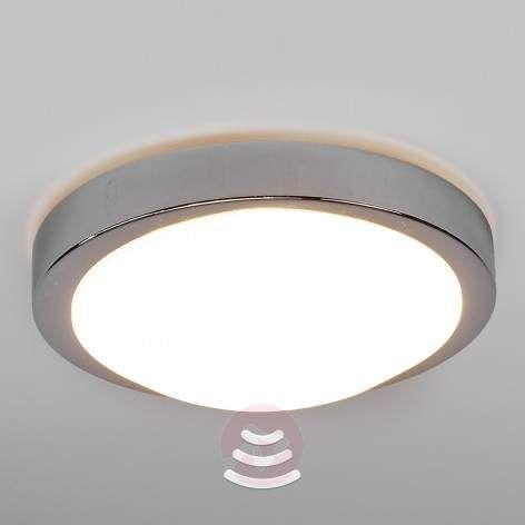 Krom-Bad-LED-taklampe Aras med sensor, 10 W