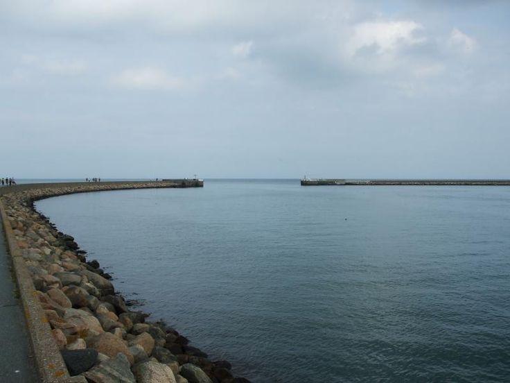 Puttgarden Hafenausfahrt mit Molen