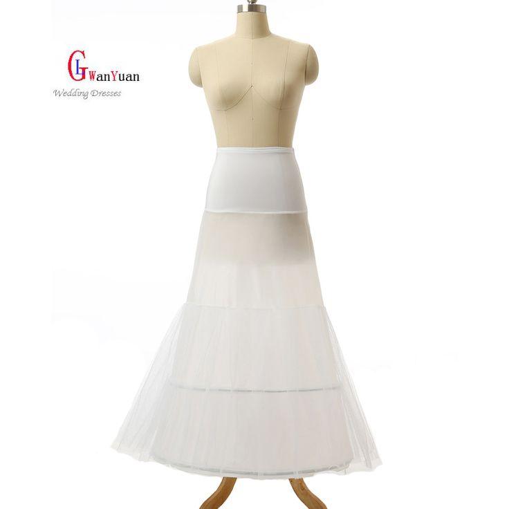 La enagua De la Alta Calidad 2 Aros Sirena Vestido de Enagua de La Crinolina Para El vestido de Boda de La Sirena 2017