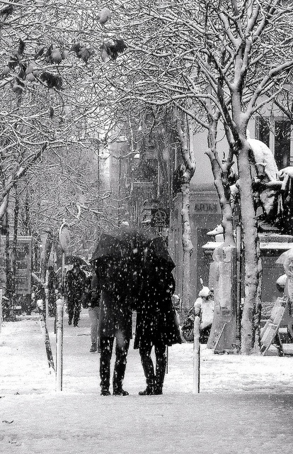 Snow in Paris!