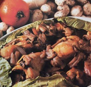 LE GUSTOSE RICETTE  DI NONNA MARIA: Umido di coniglio con funghi alla francese