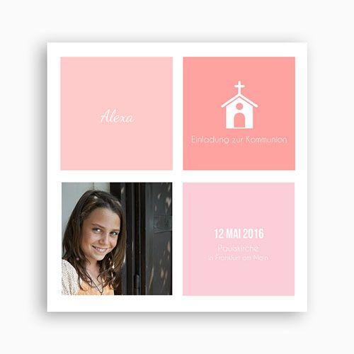 Einladungskarten Kommunion Mädchen - Kirche 40521
