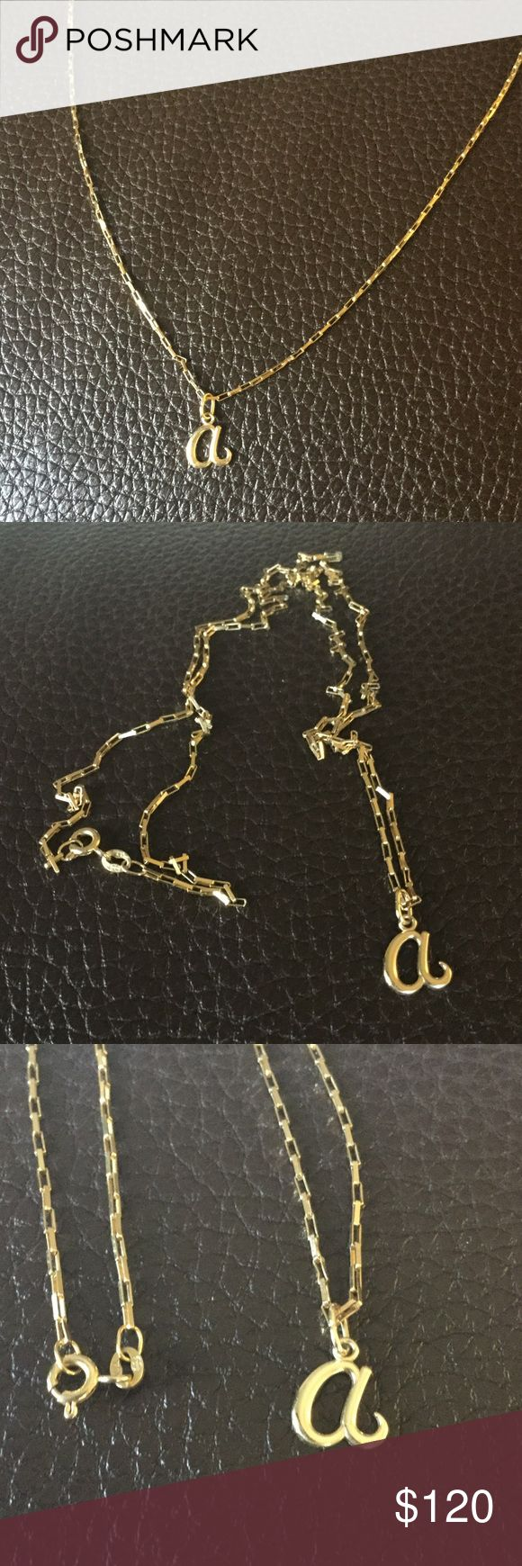 "14K Gold Chain Italian yellow gold chain.  24"" long.  Boxed links.  ""a"" pendant is not included, but if you're interested just ask. Jewelry Necklaces"