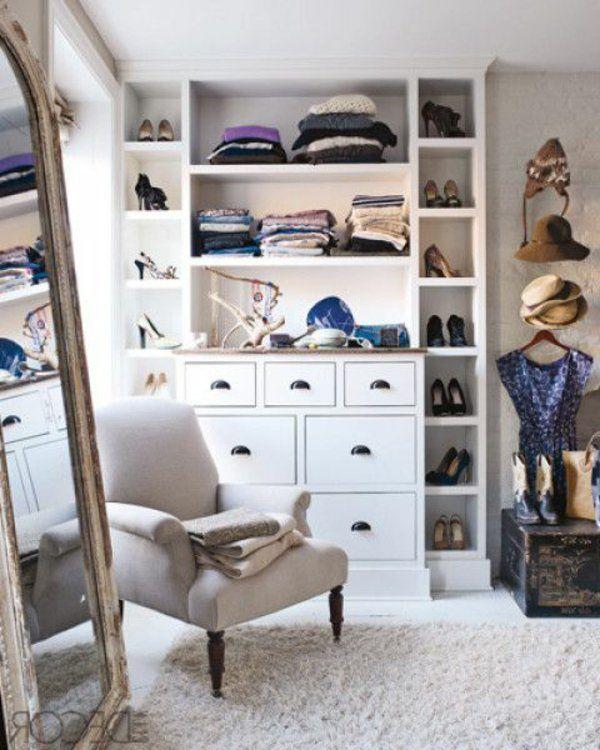 Hochbett Ikea Weiß Gebraucht ~ Begehbarer Kleiderschrank planen  50 Ankleidezimmer schick einrichten