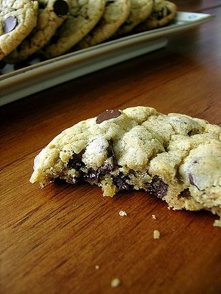 Subway Chocolate Chip Cookies recipe. Made them tonight and they are fab!