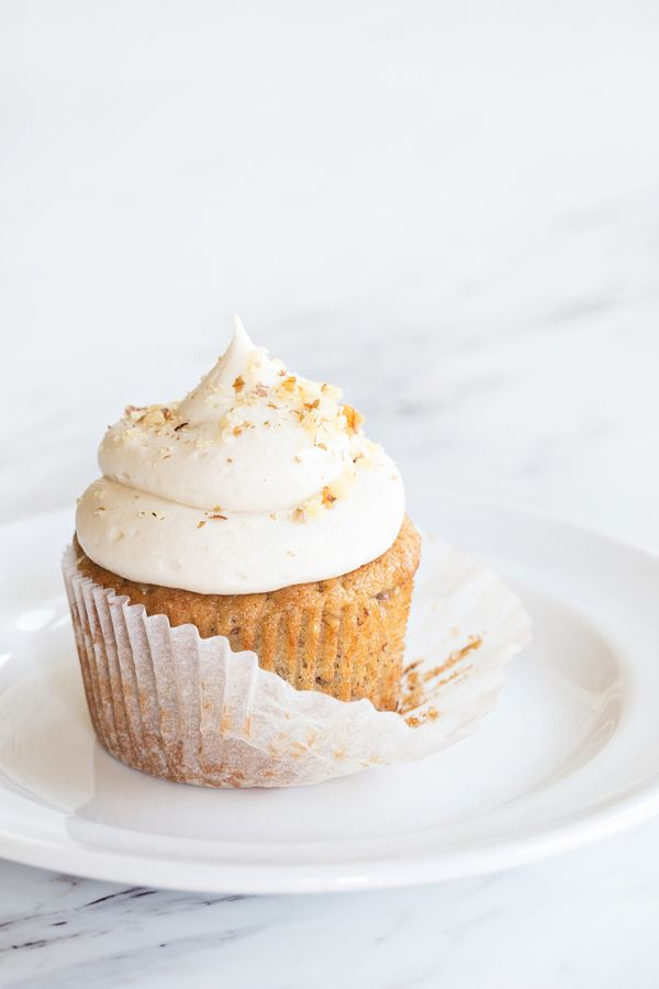 These Banana Cupcakes with Cream Cheese Frosting are fluffy, moist, and come together in a snap. Your family will go bananas for them!
