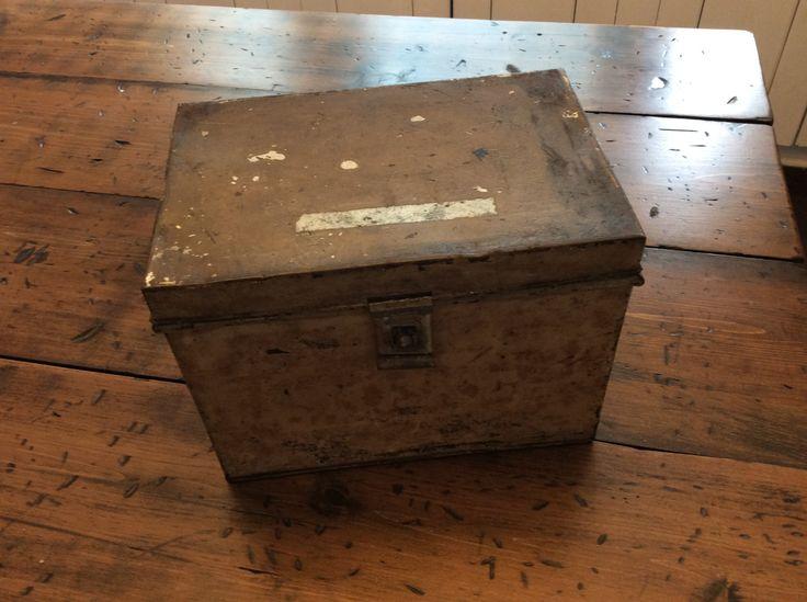 Cat In Bread Box 1920S Tin Bread Box  Rustic Metal Storage Box A418  Guy Stuff