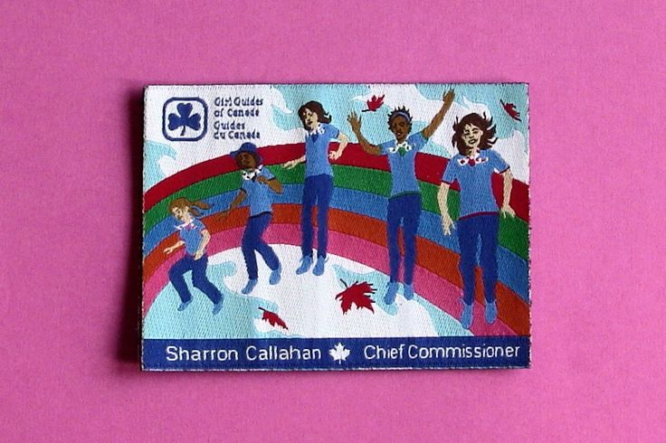 Crest from Sharron Callahan. Chief Commissioner of Girl Guides of Canada. SWAPS from Girl Guides of Canada, Quebec Symposium 2015.