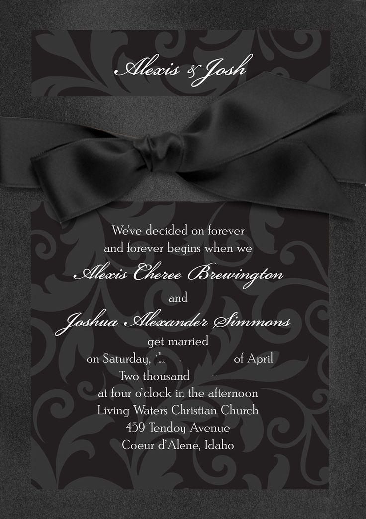 treasured jewels modern black wedding invitation invitations by davids bridal enter the davids - Davids Bridal Wedding Invitations