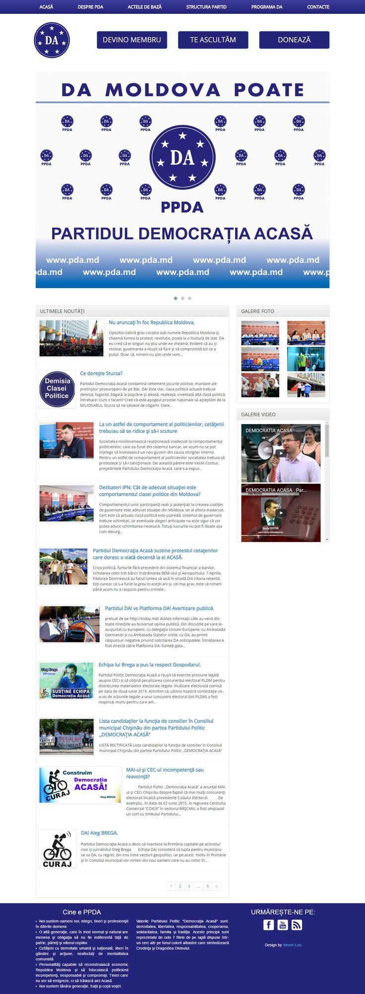 Website-ul http://p-da.md/ realizat de Smart Lab www.smartlab.md