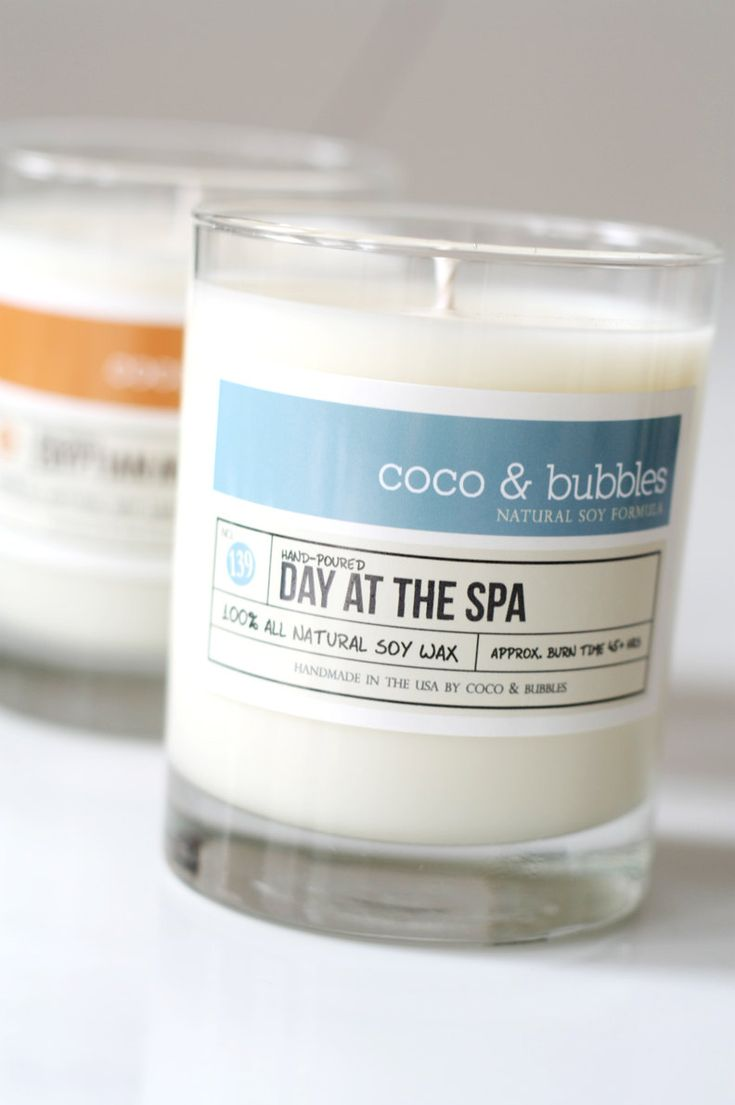 No. 139: DAY at the SPA  // Natural Soy Candle // 13 oz // Highly Scented. $18.50, via Etsy.