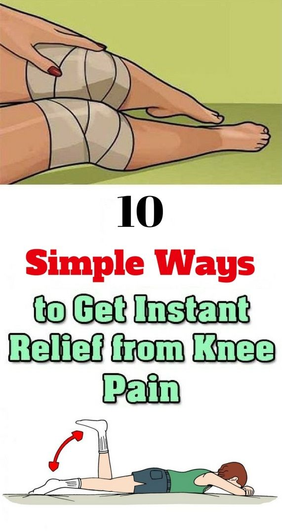 Amazing trick for knee pain relief....